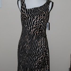 NWT Vince Camuto Animal Print Jersey Dress sz 8